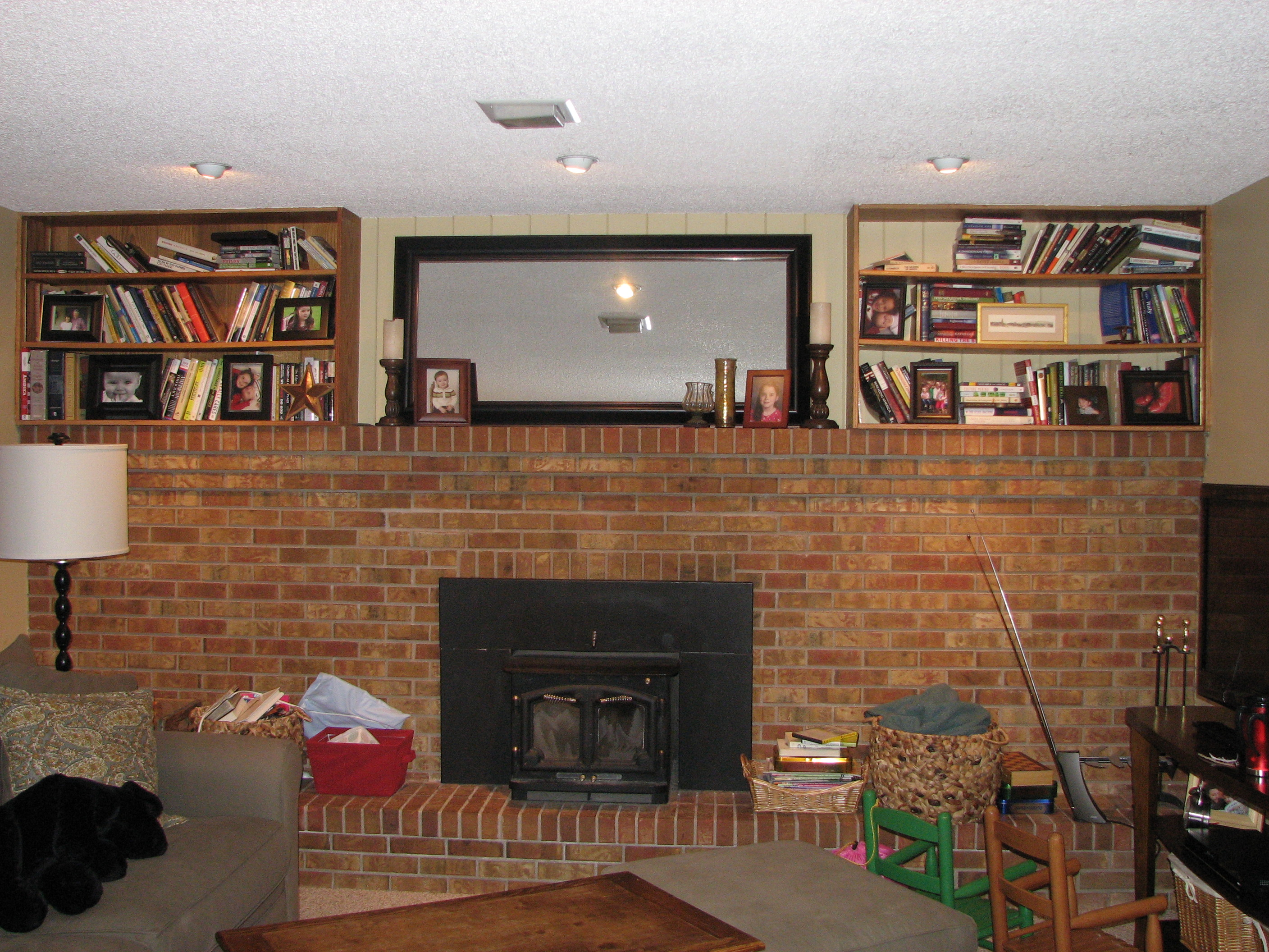 paint your fireplace in a weekend u2013 house over head