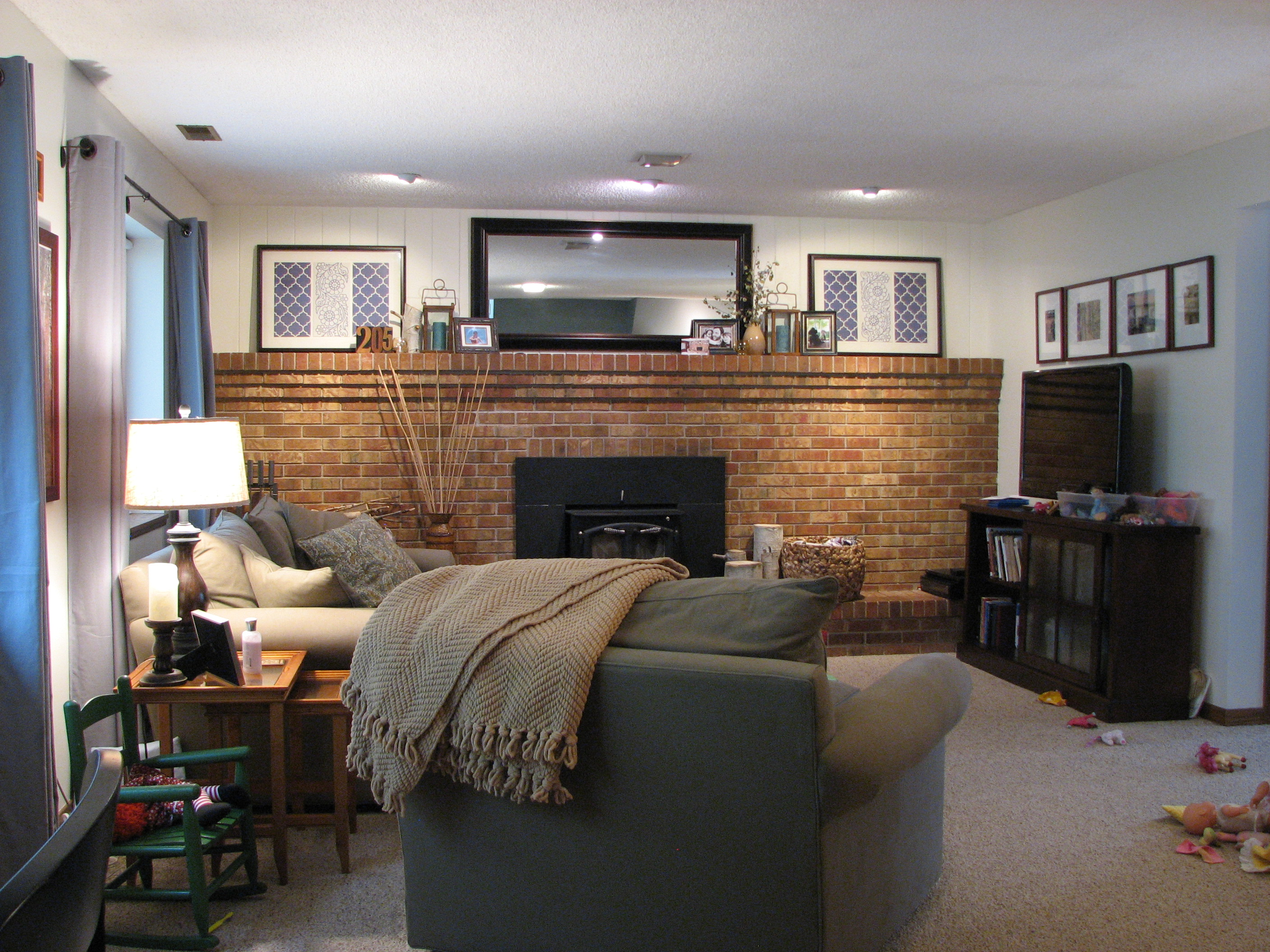 painted brick fireplace u2013 house over head