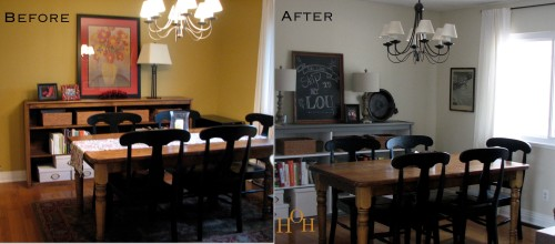 beforeafter dining room