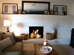 Painted Brick Fireplace House Over Head
