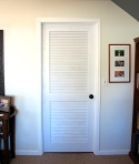 spray painted louvered door