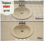 Replace ugly grout