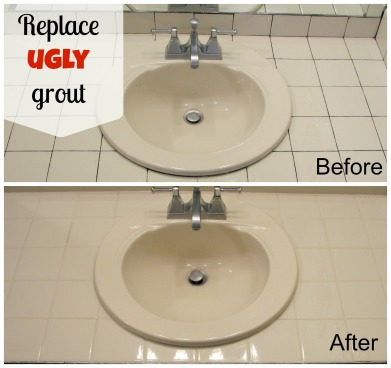 Replace ugly grout -- HouseOverHead blog