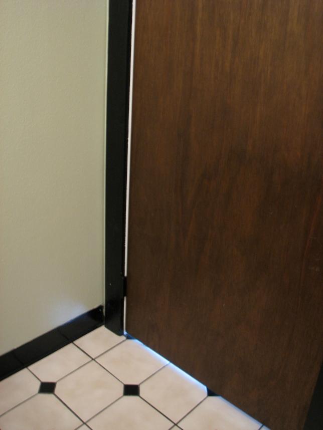 oak door with black trim