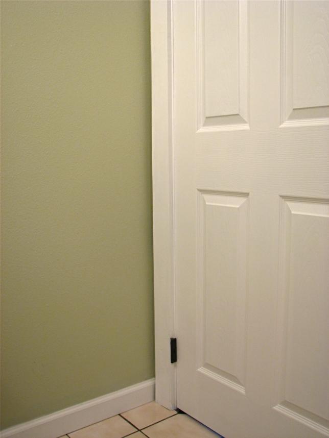 New bathroom door and trim